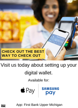 picture of a lady, secure check out using your digital wallet